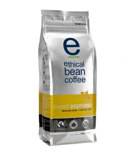 [Ethical Bean Coffee] Bean Coffee Sweet Espresso, Med Drk Rst  At least 95% Organic