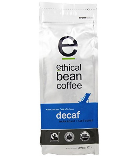 [Ethical Bean Coffee] Bean Coffee DeCaf, Dark Roast  At least 95% Organic