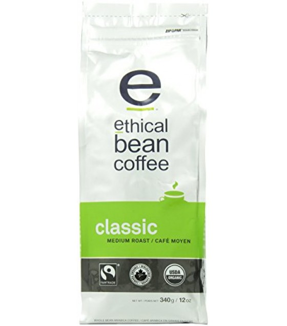 [Ethical Bean Coffee] Bean Coffee Classic, Medium Roast  At least 95% Organic