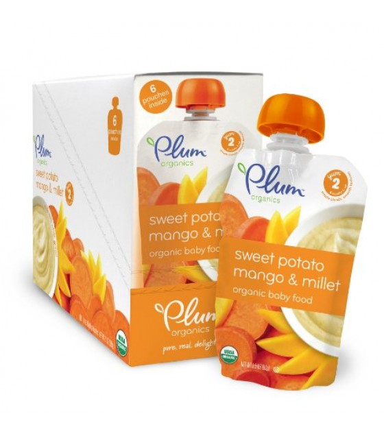 [Plum Organics] Second Blends Sweet Potato Mango & Millet  At least 95% Organic