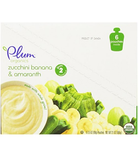 [Plum Organics] Second Blends Zucchini Banana & Amaranth  At least 95% Organic