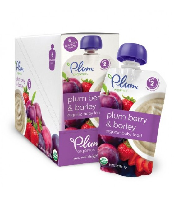 [Plum Organics] Second Blends Plum Berry & Barley  At least 95% Organic