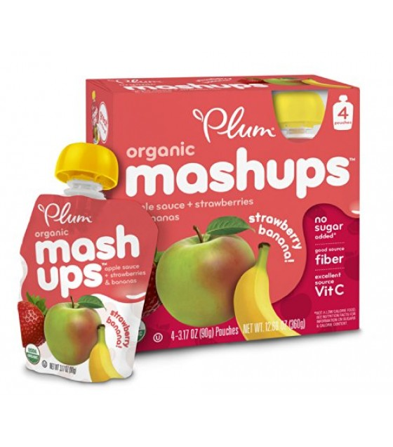 [Plum Kids] Mashups Strawberry Banana  At least 95% Organic
