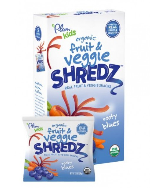 [Plum Kids] Fruit & Veggie Shredz Rooty Blues  At least 95% Organic