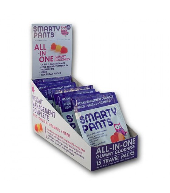 [Smarty Pants] Gummy Vitamins On-The-Go! Adult Complete + Fiber, SF