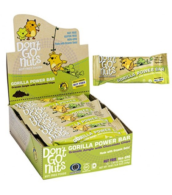 [Dont Go Nuts] Kids Energy Bars Gorilla Power  At least 70% Organic