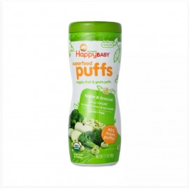 [Happy Puffs]  Apple & Broccoli At least 95% Organic