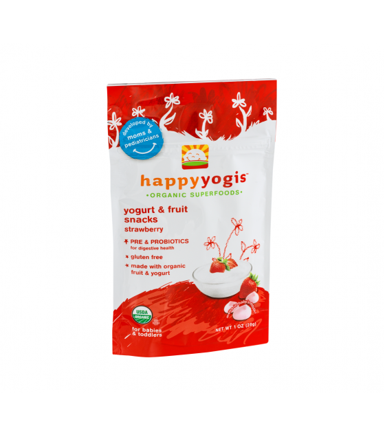 [Happy Yogis] Organic Yogurt Snack Strawberry  At least 95% Organic