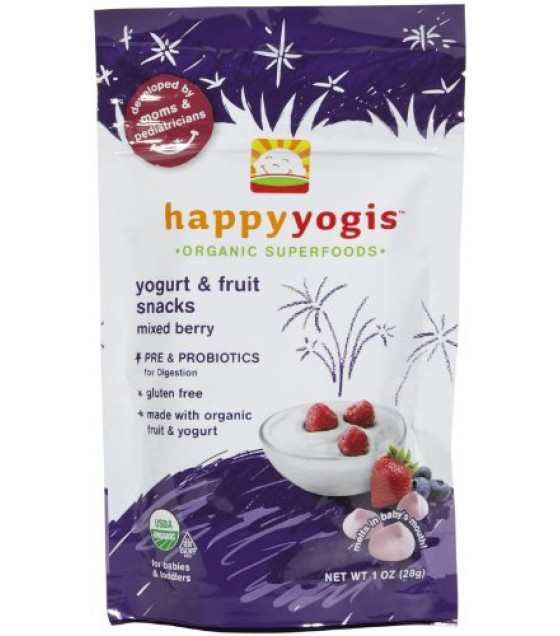 [Happy Yogis] Organic Yogurt Snack Mixed Berry  At least 95% Organic