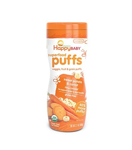 [Happy Puffs]  Sweet Potato & Carrot  At least 95% Organic