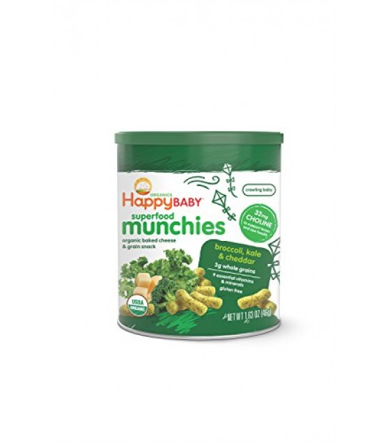 [Happy Munchies]  Broccoli, Kale & Cheddar Cheese  At least 95% Organic