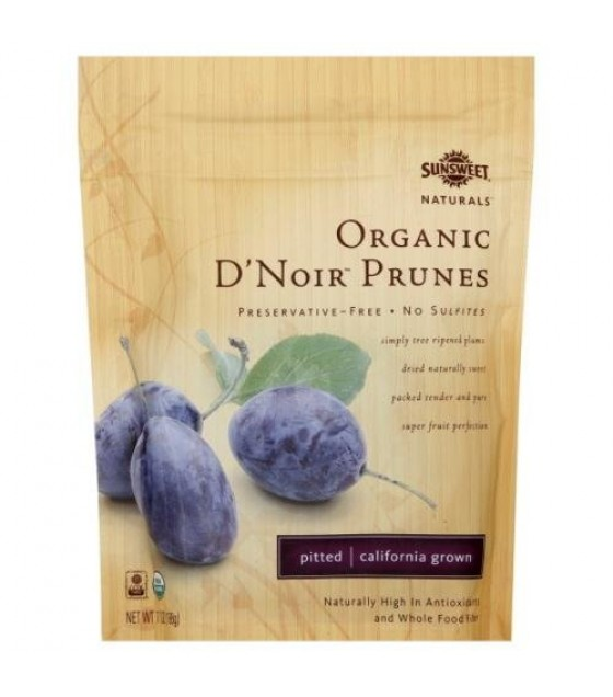 [Sunsweet Naturals] Dried Fruit D`Noir Prunes, Pitted  100% Organic