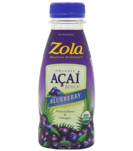 [Zola Brazilian Fruits]  Acai + Blueberry Power Juice  At least 95% Organic