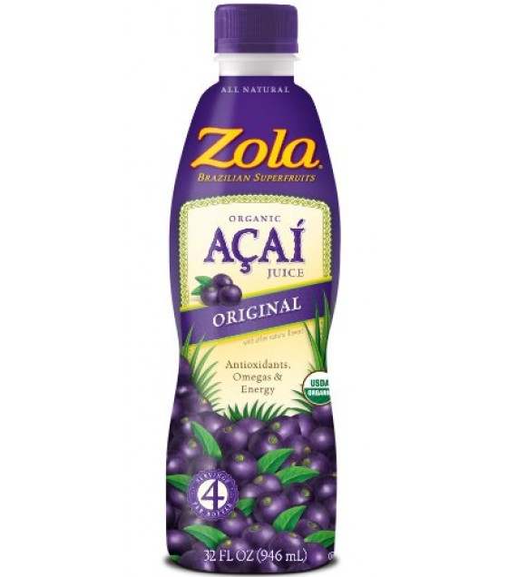 [Zola Brazilian Fruits]  Acai Juice, Original  At least 95% Organic