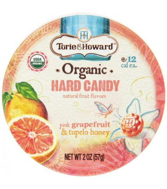 [Torie & Howard] Organic Hard Candy Pink Grapefruit/Tupelo Honey  At least 95% Organic