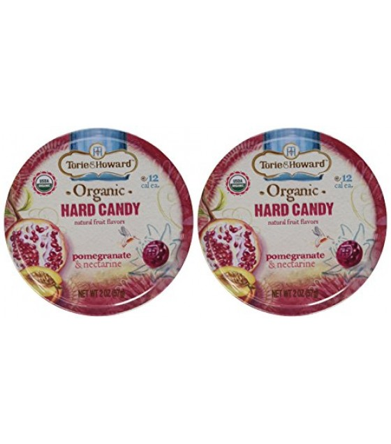 [Torie & Howard] Organic Hard Candy Pomegranate/Nectarine  At least 95% Organic