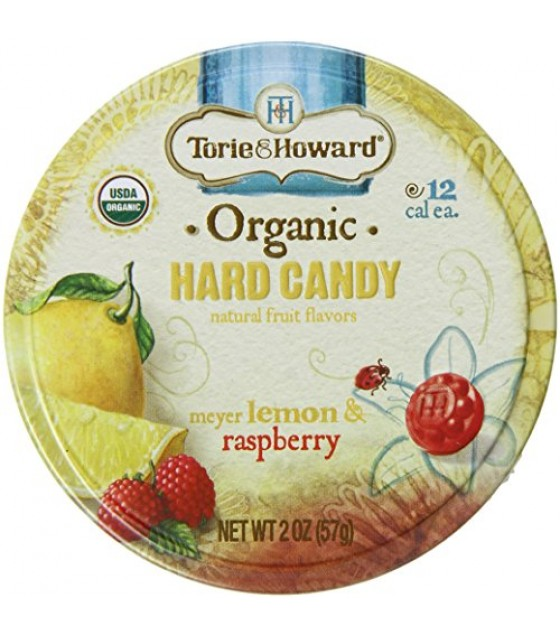 [Torie & Howard] Organic Hard Candy Lemon & Raspberry  At least 95% Organic