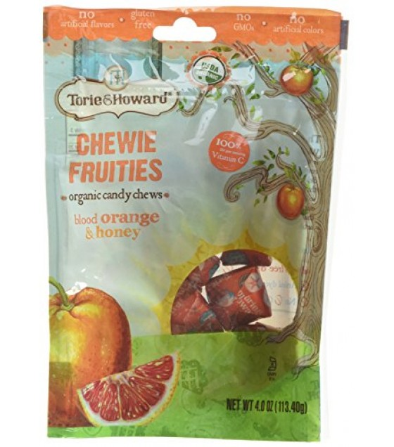[Torie & Howard] Organic Fruit Chew Candy Blood Orange & Honey  At least 95% Organic