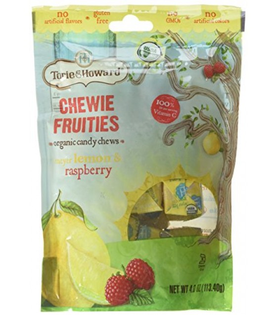 [Torie & Howard] Organic Fruit Chew Candy Meyer Lemon & Raspberry  At least 95% Organic