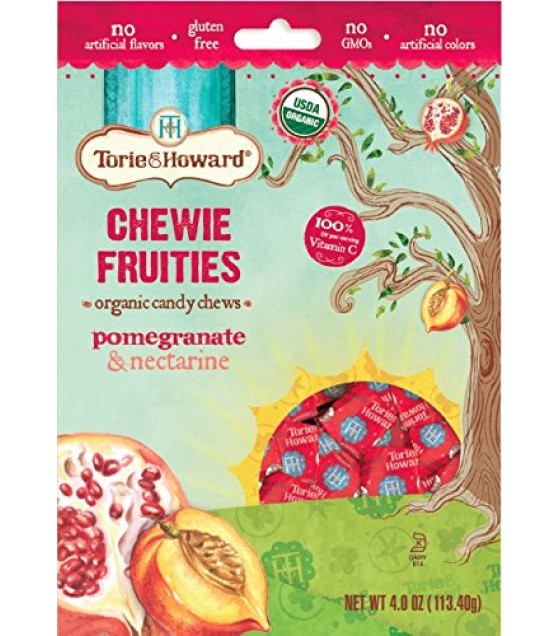[Torie & Howard] Organic Fruit Chew Candy Pomegranate & Nectarine  At least 95% Organic