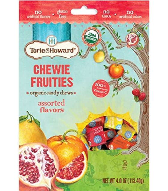 [Torie & Howard] Organic Fruit Chew Candy Assorted Flavors  At least 95% Organic