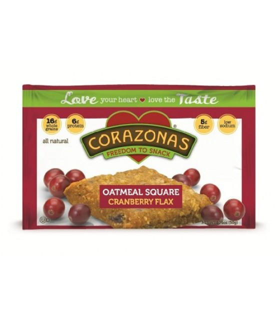[Corazonas] Oatmeal Squares Cranberry Flax