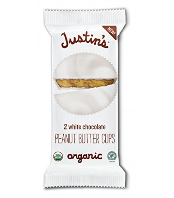 [Justin`S] Peanut Butter Cups White Chocolate  At least 95% Organic