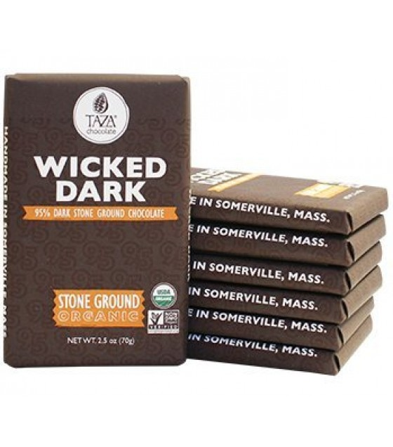 [Taza Chocolate] Organic Stone Ground-Bar Wicked Dark  At least 95% Organic