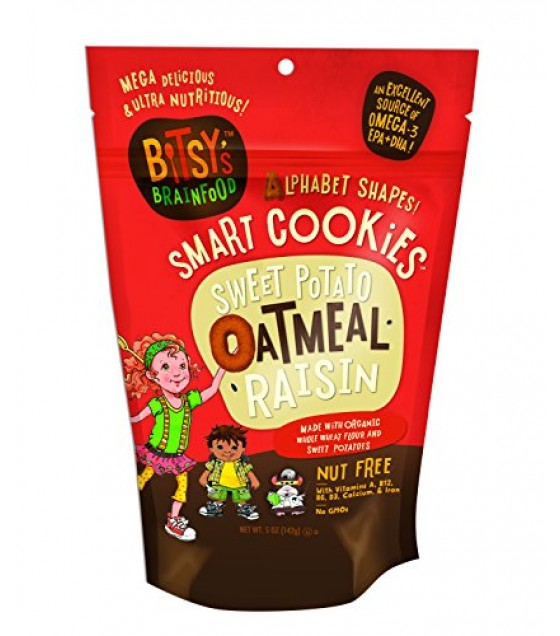 [Bitsy`S Brainfood] Smart Cookies Sweet Potato Oatmeal Raisin  At least 70% Organic
