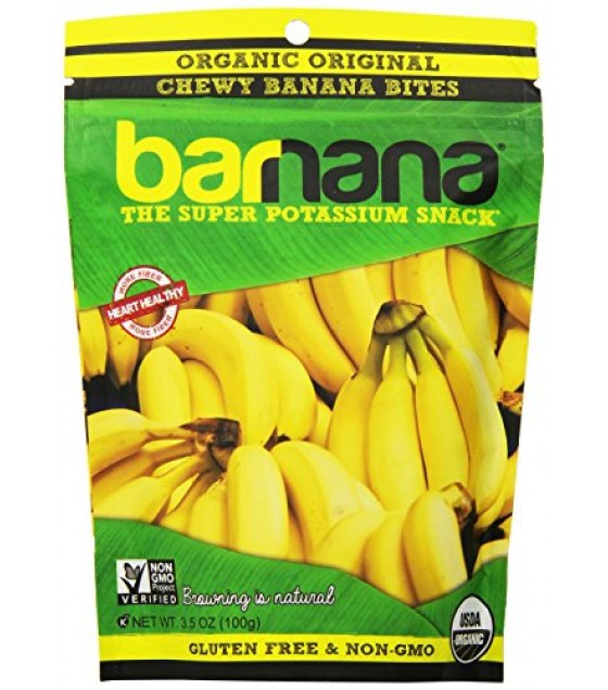[Barnana]  Banana Bites, Chewy  At least 95% Organic