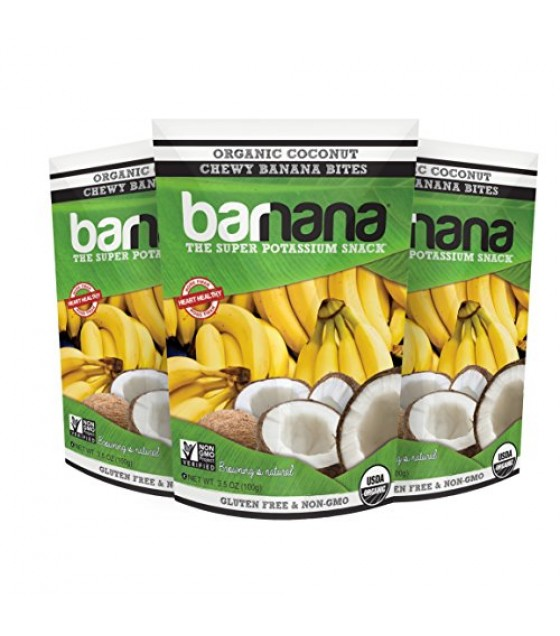 [Barnana]  Banana Bites, Coconut  At least 95% Organic