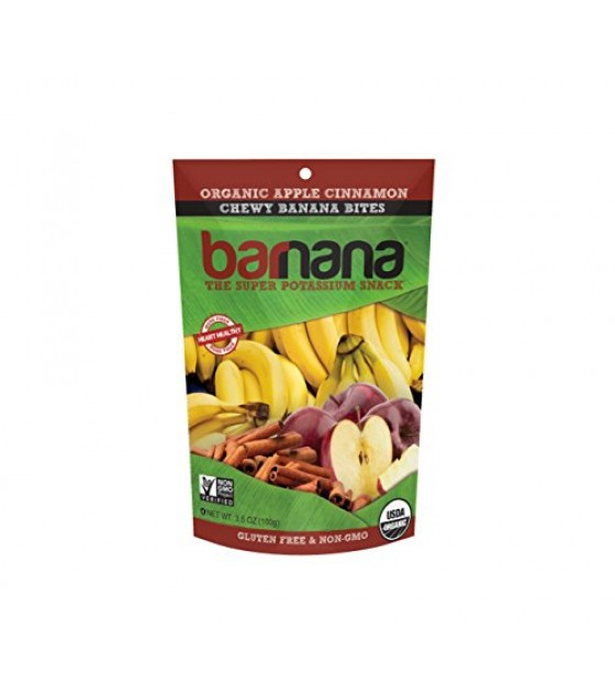 [Barnana] Chewy Banana Bites Apple Cinnamon  At least 95% Organic