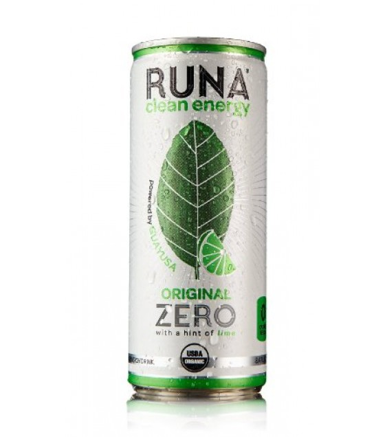 [Runa] Drink-Clean Energy Original Zero, Hint of Lime  At least 95% Organic