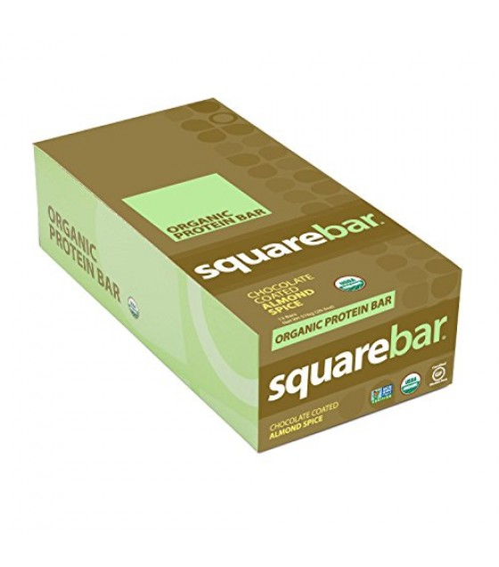 [Squarebar] Chocolate Covered Bars Almond  At least 95% Organic