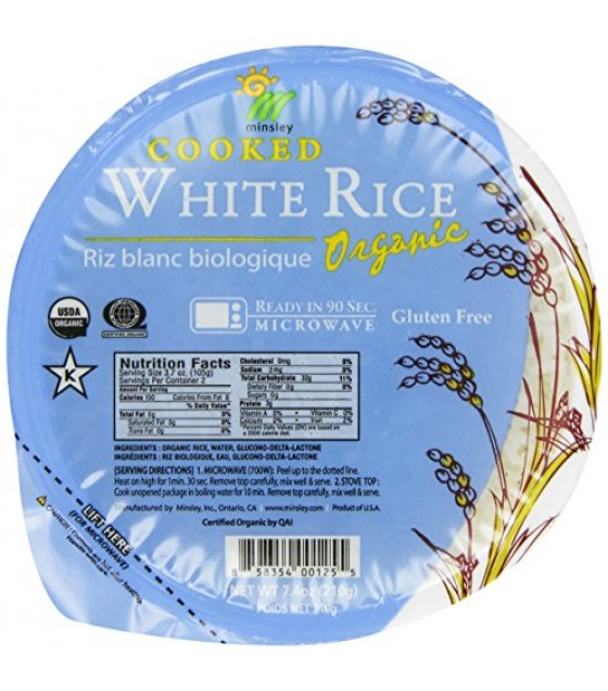 [Minsley]  White Rice, Cooked  At least 95% Organic