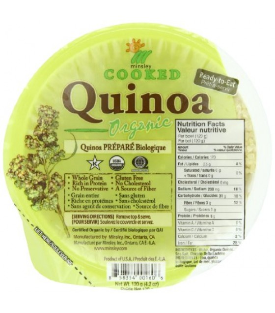 [Minsley]  Bowl, Quinoa  At least 95% Organic