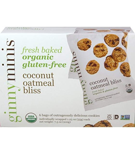 [Ginnybakes] Ginnyminis Coconut Oatmeal Bliss,GF  At least 95% Organic
