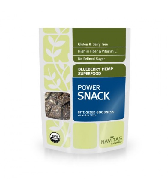 [Navitas Naturals]  Power Snack, Blueberry Hemp  At least 95% Organic
