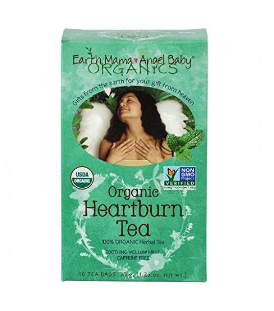 [Earth Mama Angel Baby] Pregnancy Products Heartburn Tea  100% Organic