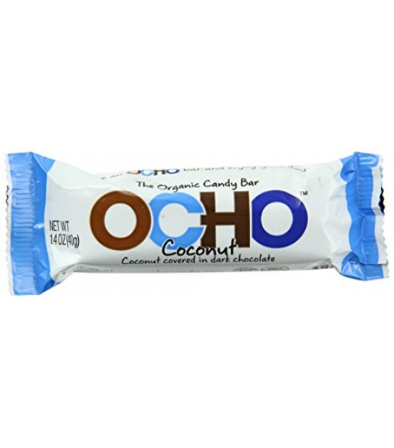 [Ocho] Organic Candy Bar Coconut  At least 95% Organic