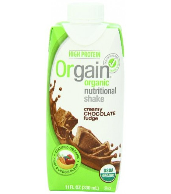 [Orgain] Nutritional Shake RTD Creamy Chocolate Fudge  At least 95% Organic