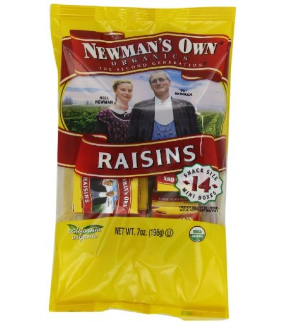 [Newman`S Own Organics] Organic Dried Fruits Raisins, Mini Boxes  At least 95% Organic