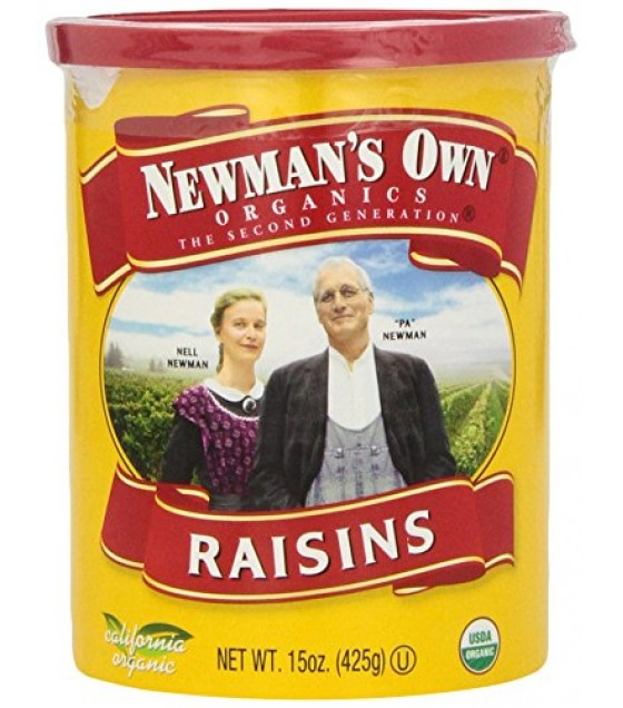 [Newman`S Own Organics] Organic Dried Fruits Raisins, Resealable Canister  At least 95% Organic