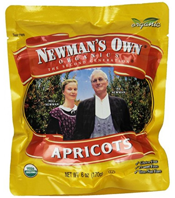 [Newman`S Own Organics] Organic Dried Fruits Dried Apricots, Zip Bag  At least 95% Organic