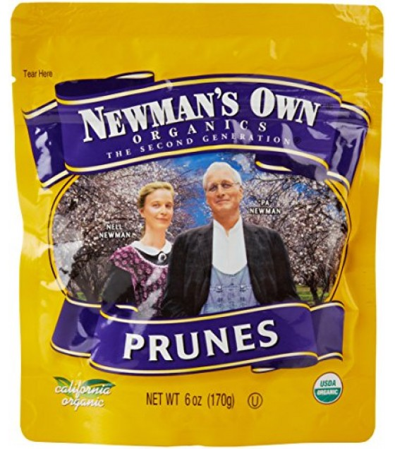 [Newman`S Own Organics] Organic Dried Fruits Prunes, Pitted, Zip Lock Bag  At least 95% Organic