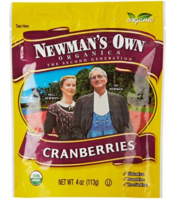 [Newman`S Own Organics] Organic Dried Fruits Cranberries, Dried, Zip Lock Bag  At least 95% Organic