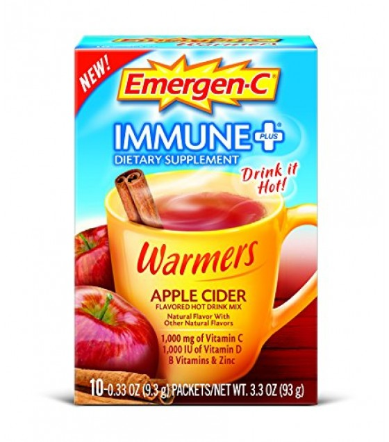 [Emergen C] Immune + System Support w/ Vitamin D Warmers, Apple cider