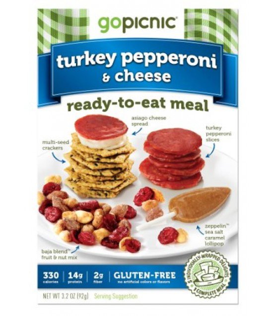 [Gopicnic] Ready To Eat Meals Turkey Pepperoni & Cheese