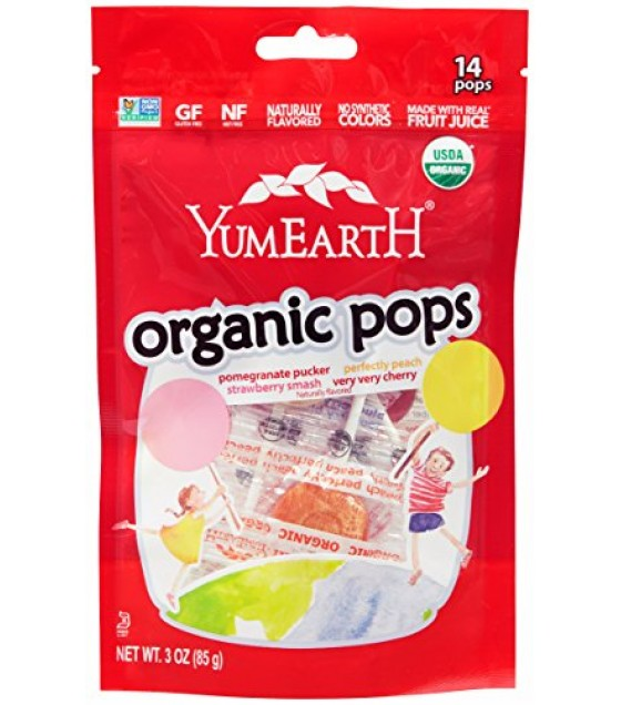 [Yumearth]  Stand-up Pouch, 15 ct  At least 95% Organic