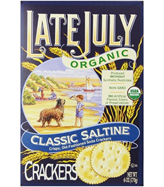 [Late July] Crackers Classic Saltine  At least 95% Organic